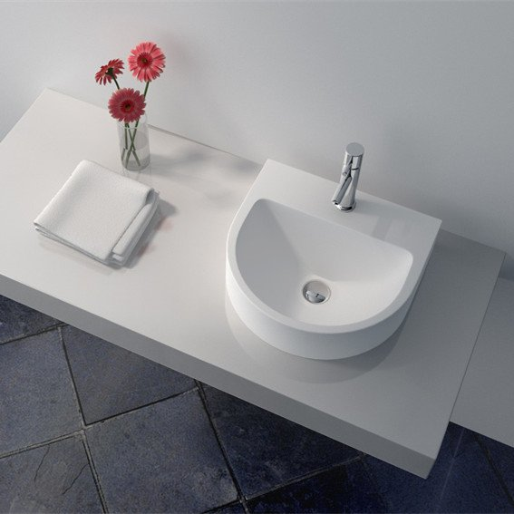 JINZUN Cast Stone Solid Surface Countertop Wash Basin JZ9007 Solid Surface Countertop Basin image50