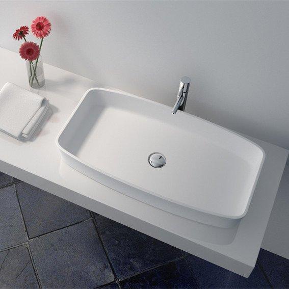 JINZUN Cast Stone Solid Surface  Bathroom Countertop Basin series Solid Surface Countertop Basin image51