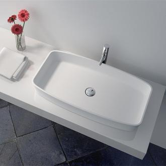 JINGZUN BATHS Cast Stone Solid Surface Bathroom Countertop Basin series info