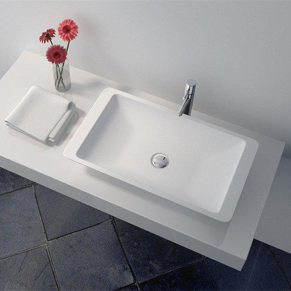 Cast Stone Solid Surface Bathroom Countertop Sink JZ9002