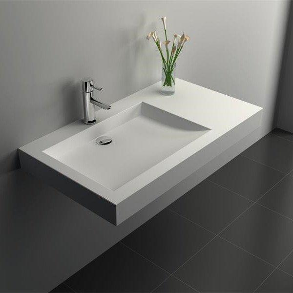 Cast Stone Solid Surface Bathroom Countertop Sink JZ9020b