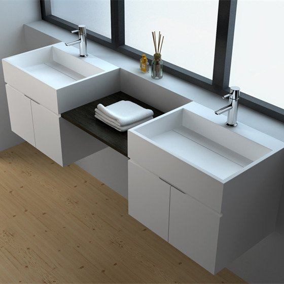 JINZUN Solid Surface Wall-hung Cabinet JZ60 Series Solid Surface Seamless Cabinet image65