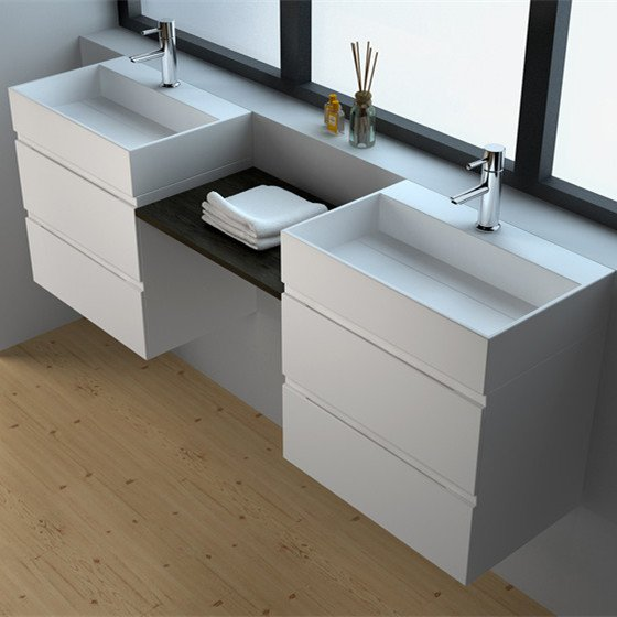 JINZUN Solid Surface Seamless Cabinet series Solid Surface Seamless Cabinet image66