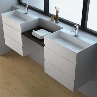 JINGZUN BATHS Solid Surface Seamless Cabinet series info