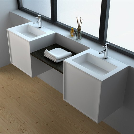 JINZUN Solid Surface Wall Mount Cabinet JZ6011 Solid Surface Seamless Cabinet image67
