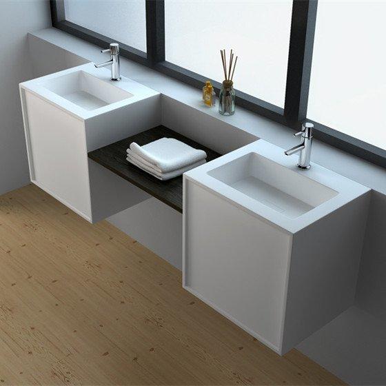 JINGZUN BATHS Solid Surface Wall Mount Cabinet JZ6011 info