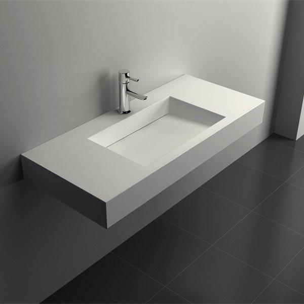 Solid Surface Wall Mount Bathroom Sink JZ1033