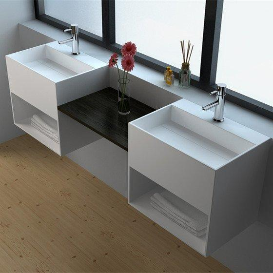 Solid Surface Wall-hung Bathroom Basin JZ1029