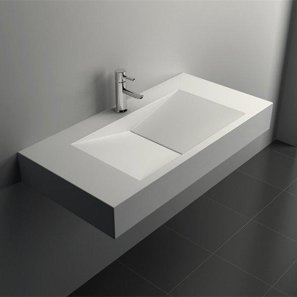 Solid Surface Wall Mount Bathroom Basin JZ1037