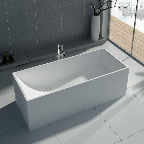 67 Inch Square Freestanding Solid Surface Tub JZ8607