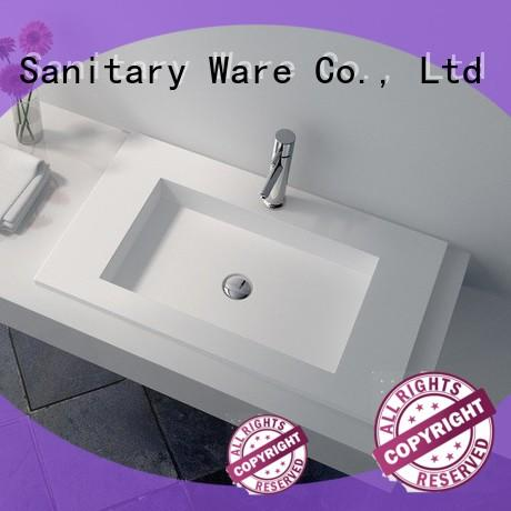 utility Solid Surface bathroom Basin wash size for home