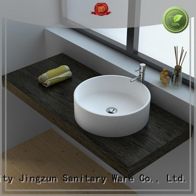 solid surface countertop options jz9016 Solid Surface Wash Basin JINZUN Brand
