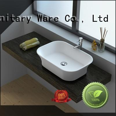 Cast Stone Solid Surface Bathroom Countertop Basin JZ9030