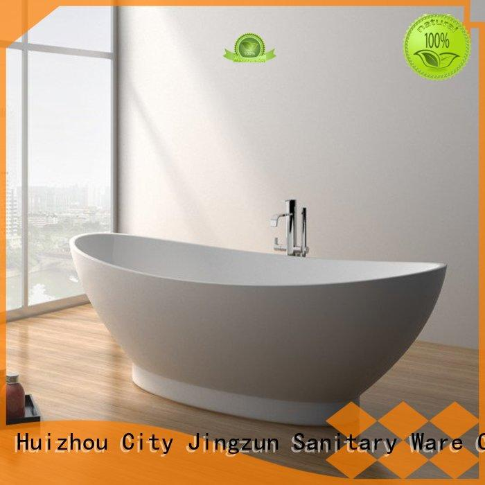 JINZUN professional solid surface freestanding bathtub size for apartment
