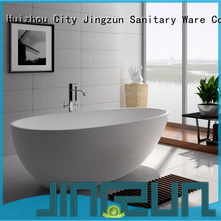 solid surface tub standing solid stone bathtub JINZUN