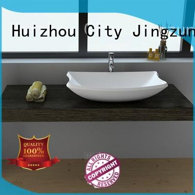 Cast Stone Solid Surface Bathroom Countertop Basin JZ9016