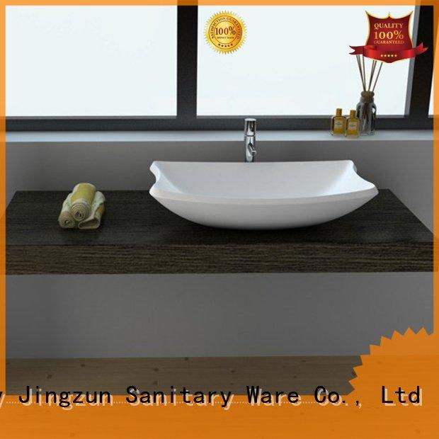 high quality Solid Surface Wash Basin jz9016 factory price for guesthouse