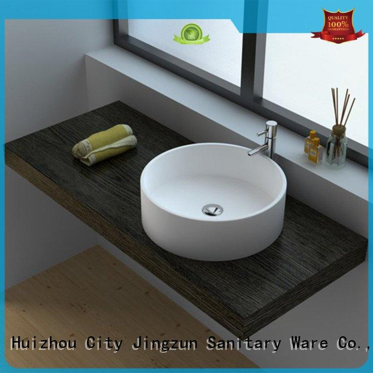 JINZUN customized stone bathroom basins from China for guesthouse