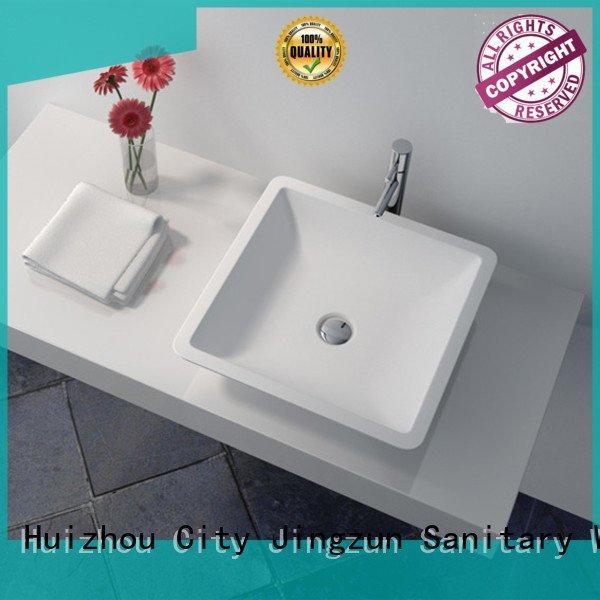JINZUN solid surface countertop options jz9002 jz9062 jz90 sink