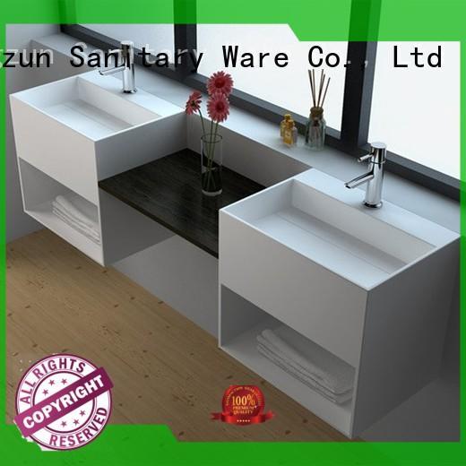 Solid Surface Wall-hung Bathroom Basin JZ1029