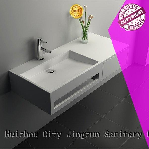 seamless solid surface cabinets JINZUN solid surface products