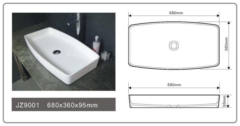 JINGZUN BATH solid surface/stone resin basin/sink JZ9001