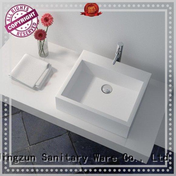 Cast Stone Solid Surface Bathroom Countertop Sink JZ9022