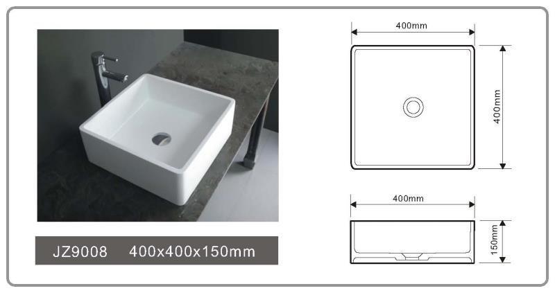 JINGZUN BATH solid surface/stone resin basin/sink JZ9008