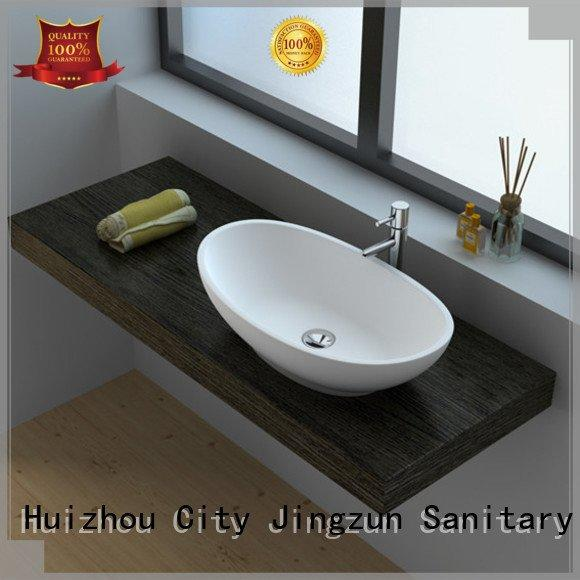 OEM Solid Surface Wash Basin jz9063 solid solid surface countertop options