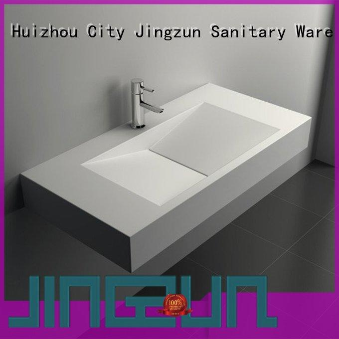 solid surface vanity sinks solid wallhung JINZUN Brand