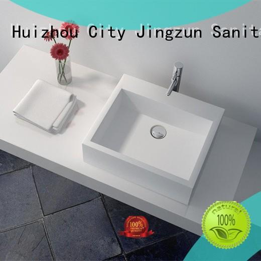 JINZUN high quality stone bathroom basins manufacturer for guesthouse