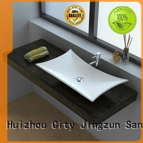 JINZUN customized Solid Surface bathroom Basin size for guesthouse