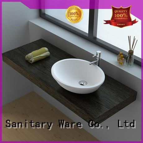 high quality Solid Surface bathroom Basin jz9011 manufacturer for hotel
