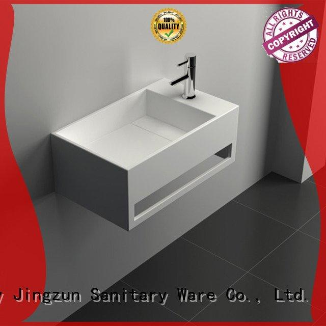 seamless Solid Surface Wash Basin JINZUN solid surface vanity sinks