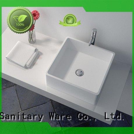 solid surface countertop options jz9062 basin JINZUN Brand