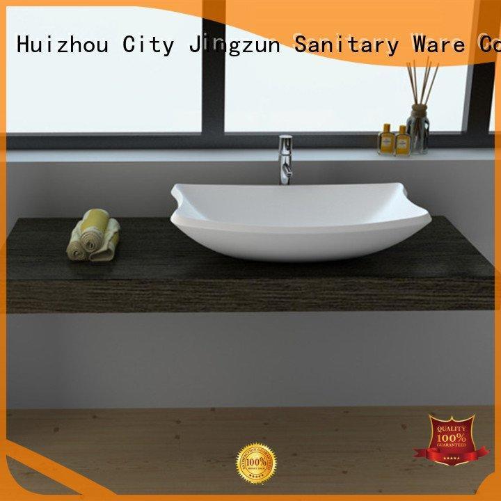 solid surface countertop options jz9055 Solid Surface Wash Basin JINZUN Brand