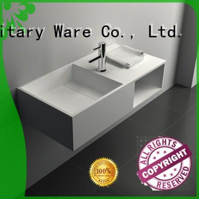JINZUN Brand wall wash Solid Surface Wash Basin manufacture
