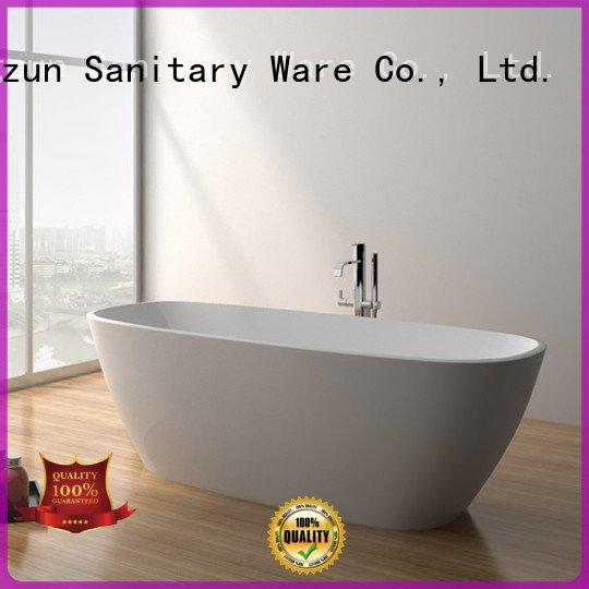 solid surface tub soaking JINZUN Brand solid stone bathtub