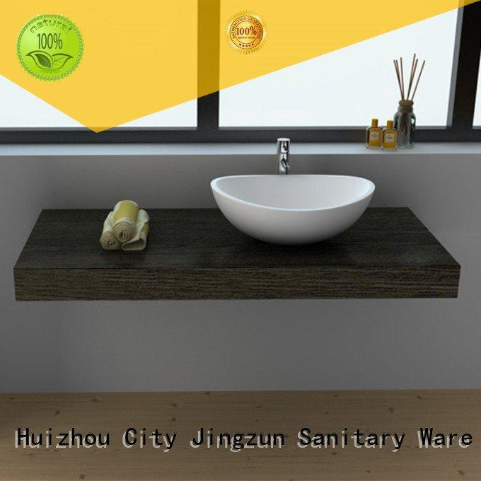 OEM solid surface countertop options jz9010 jz9035 basin Solid Surface Wash Basin