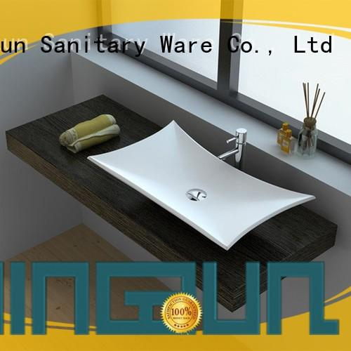 Cast Stone Solid Surface Vessel Countertop Sink JZ9017
