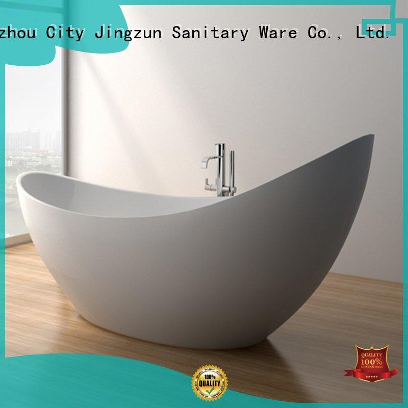 luxury soaking style JINZUN solid stone bathtub