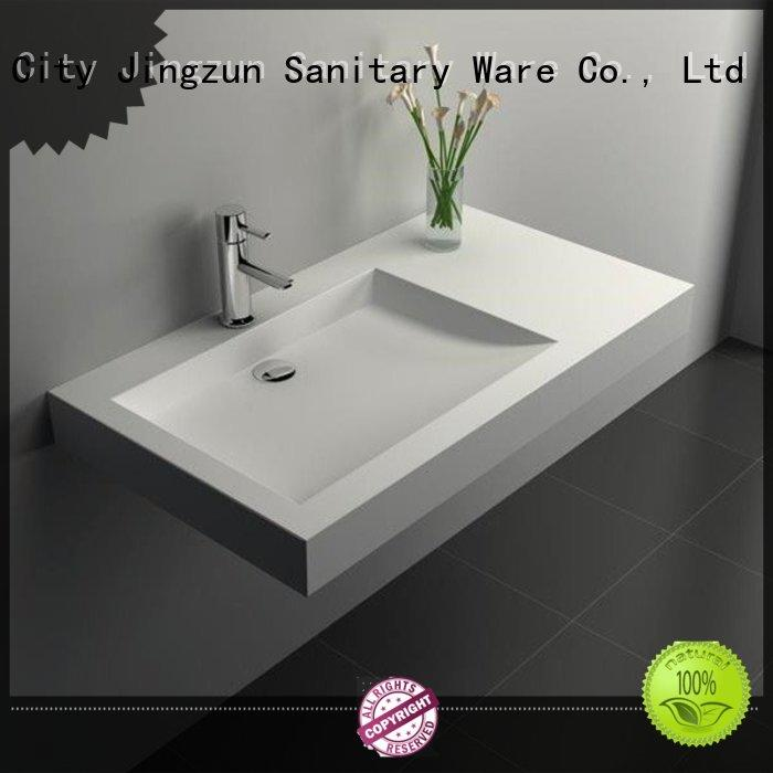 JINZUN utility Solid Surface Wash Basin manufacturer for hotel