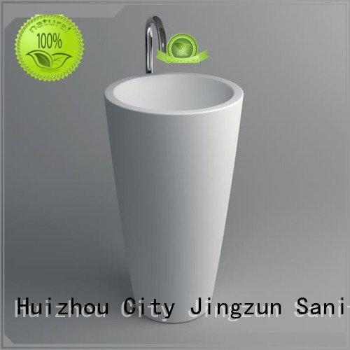 solid surface integrated bathroom sinks surface JINZUN Brand Solid Surface Wash Basin