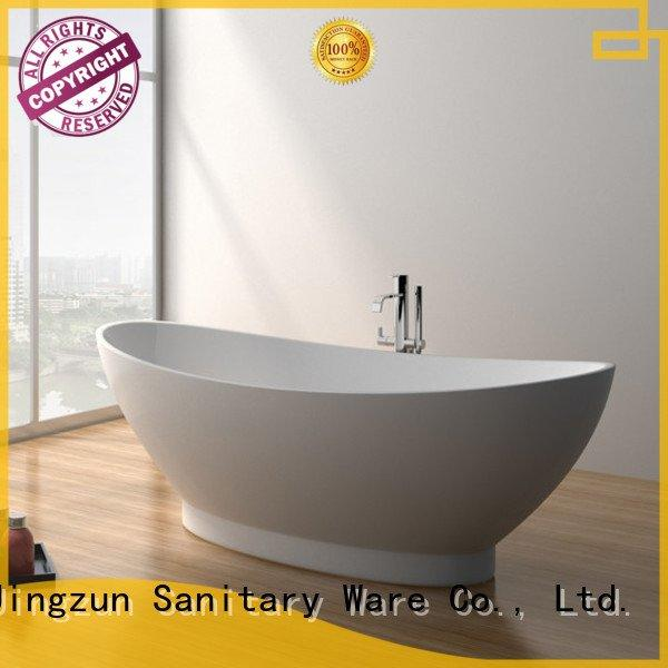 solid surface tub jz8610 jz8607 solid stone bathtub JINZUN Warranty