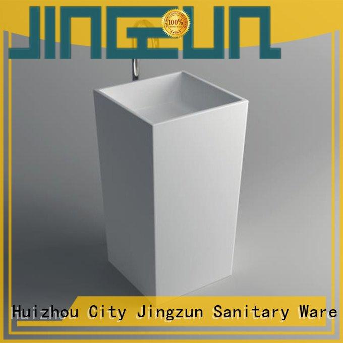 JINZUN unique bathroom pedestal basins solid