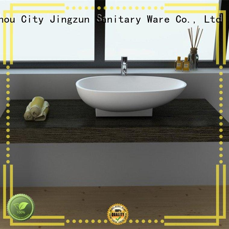 JINZUN cast stone bathroom basins from China for apartment