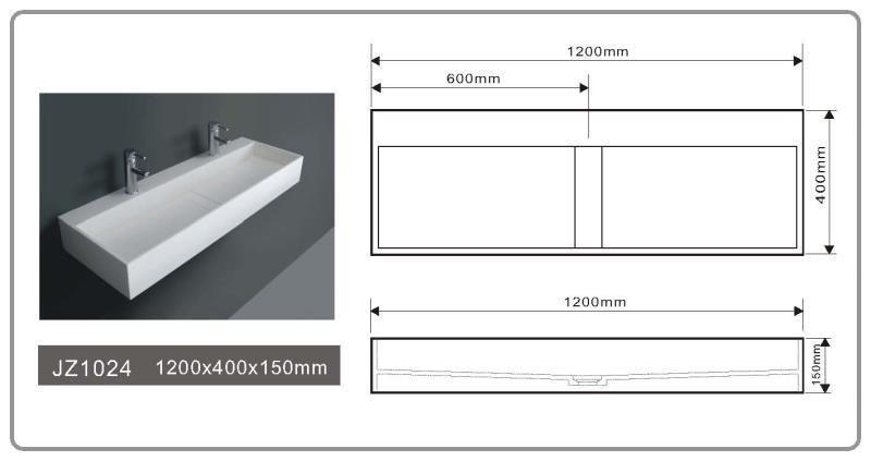 JINGZUN BATH solid surface basin/sink JZ1024