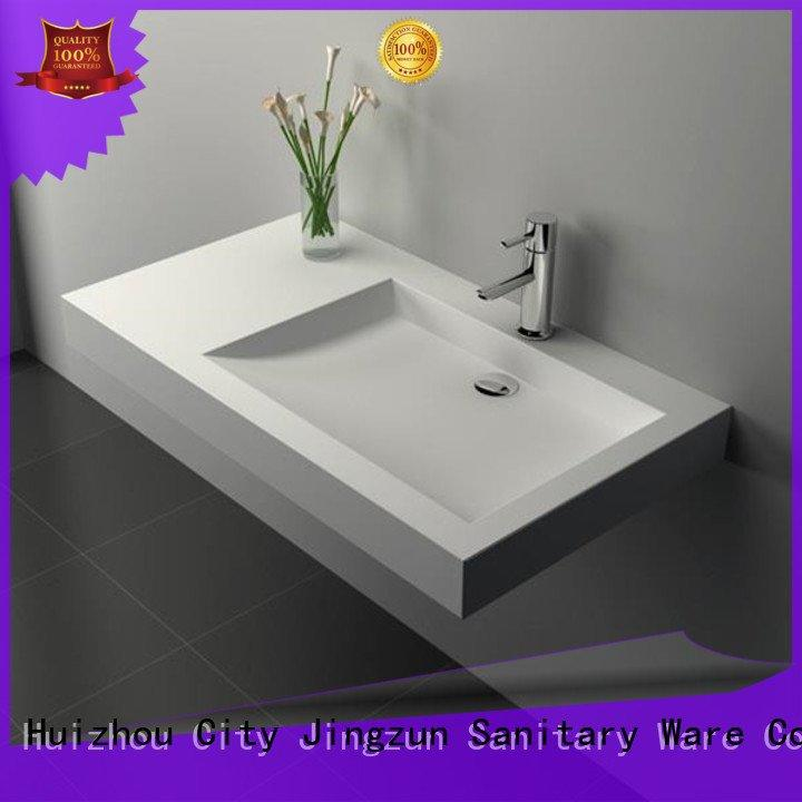 solid surface countertop options sink Solid Surface Wash Basin JINZUN Brand