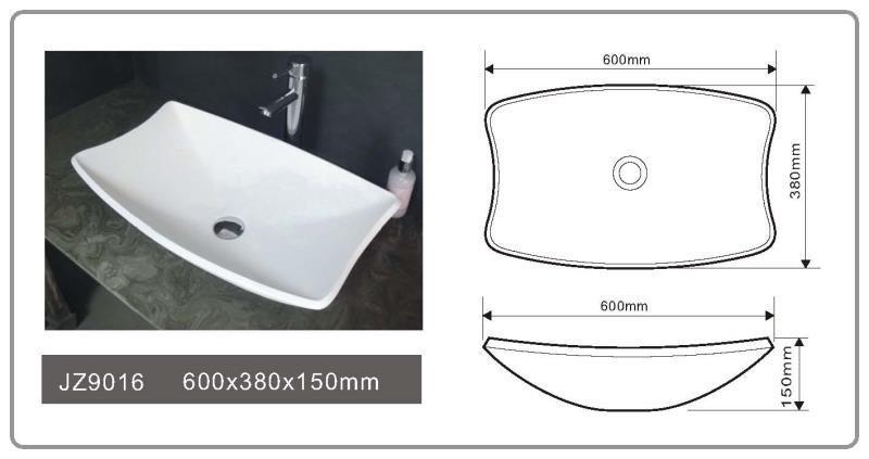 JINGZUN BATH solid surface/stone resin basin/sink JZ9016