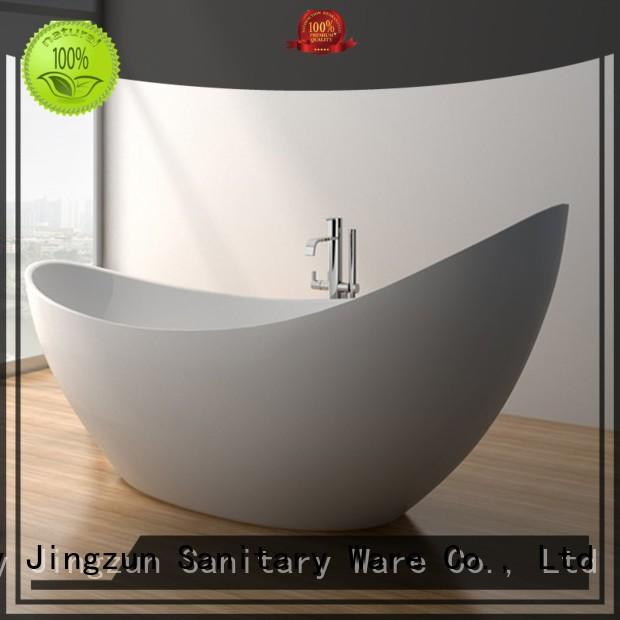 74 Inch New Style Contemporary Solid Surface Freestanding Bathtub JZ8621